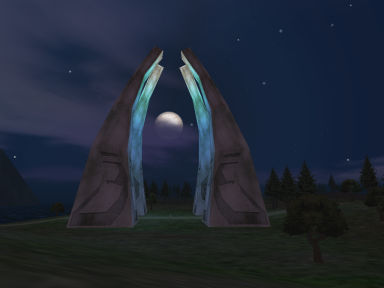 The Teleportation Spires in North Karana